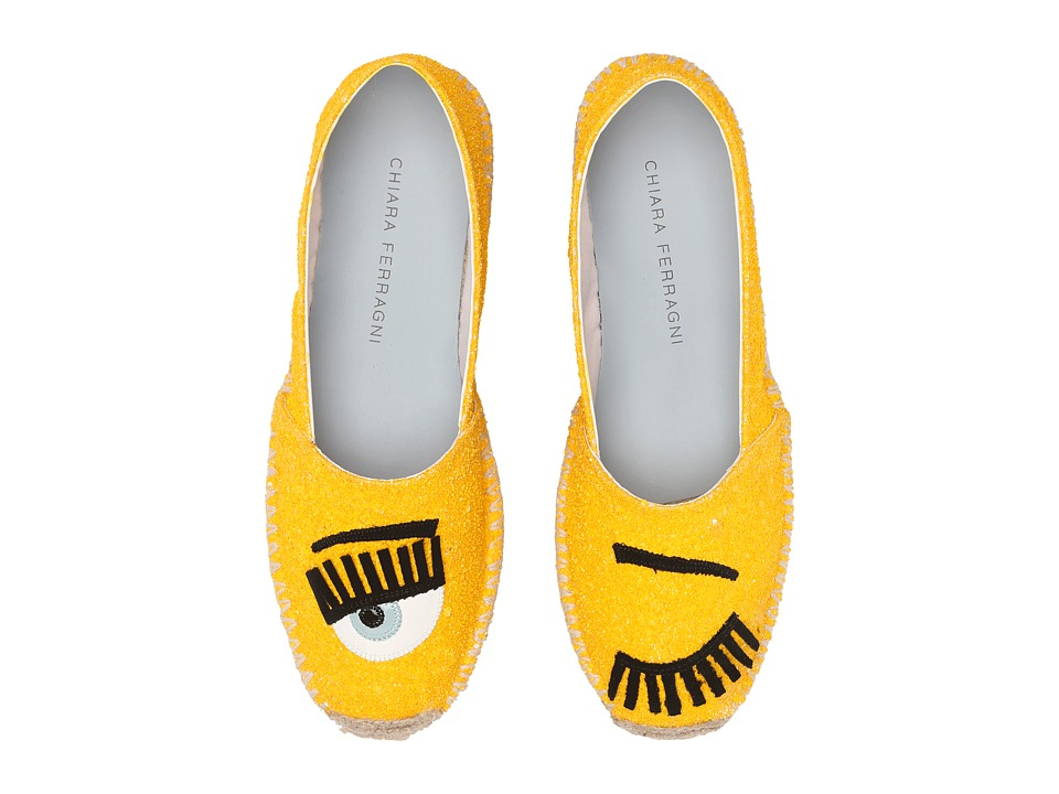 Chiara Ferragni - Glitter Flirting Espadrilles (Yellow) Women's Shoes