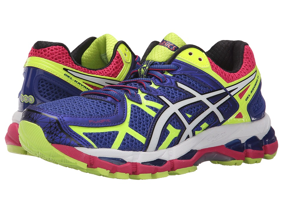 ASICS - Gel-Kayano 21 (Blue/White/Flash Yellow) Women's Running Shoes