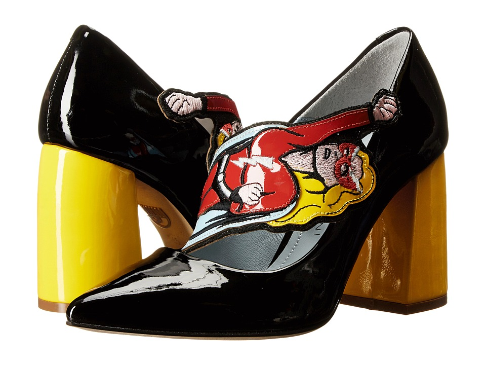 Chiara Ferragni - Superhero Pumps (Black/Yellow) Women's Shoes