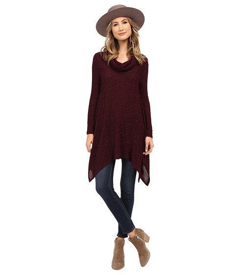 Culture Phit - Winny Cowl Neck Top (Plum) Women's Clothing