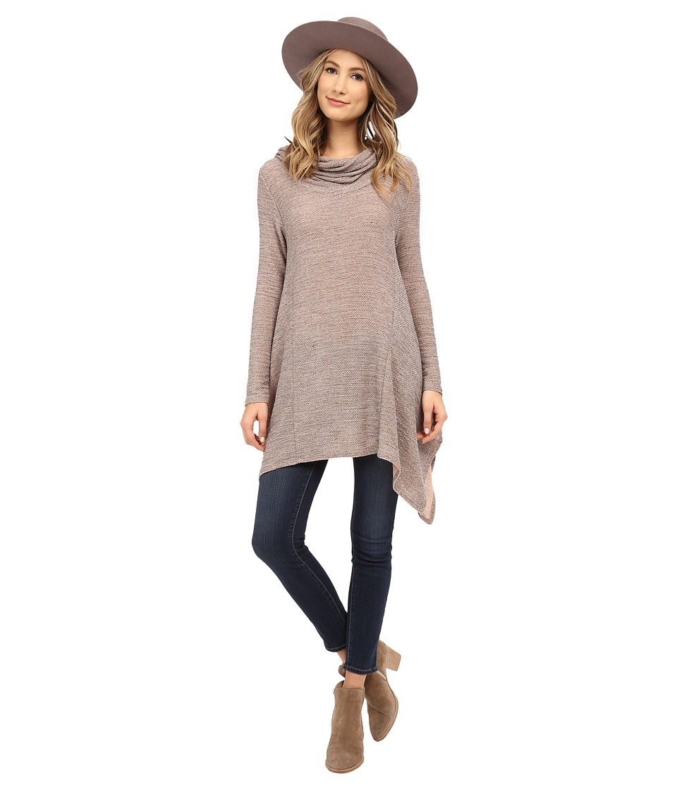 Culture Phit - Winny Cowl Neck Top (Taupe) Women's Clothing