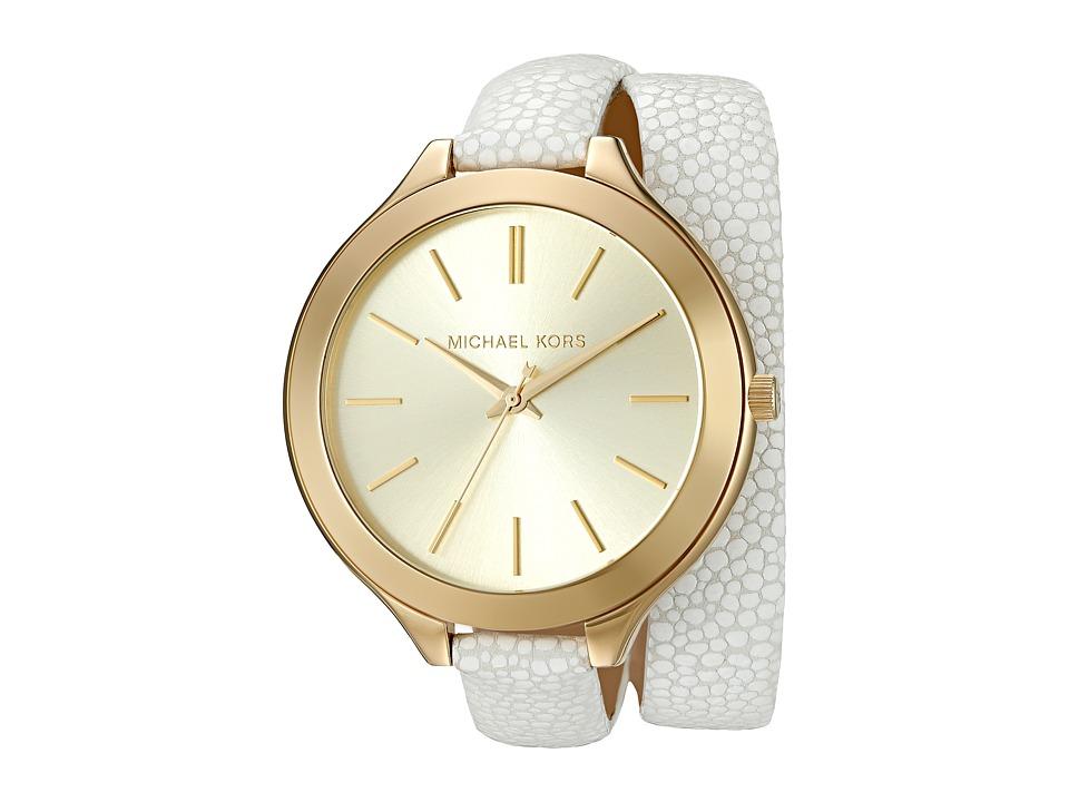 Michael Kors - Slim Runway (MK2477 - Gold/White) Analog Watches