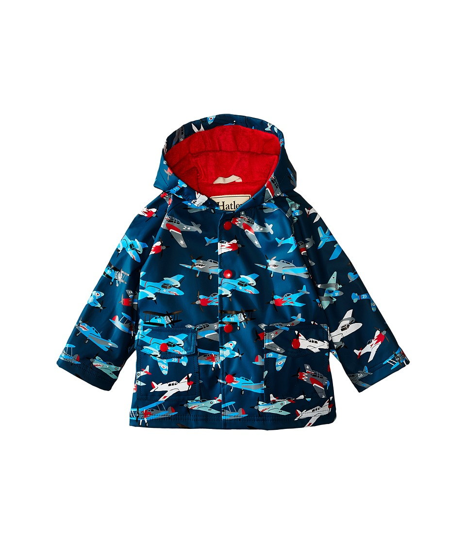 Hatley Kids - Fighter Planes Raincoat (Infant) (Blue) Boy's Coat