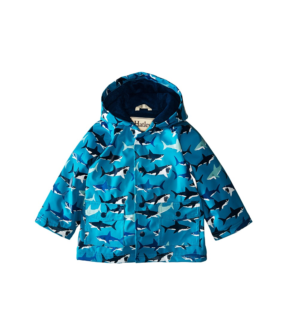 Hatley Kids - Great White Sharks Raincoat (Infant) (Blue) Boy's Coat