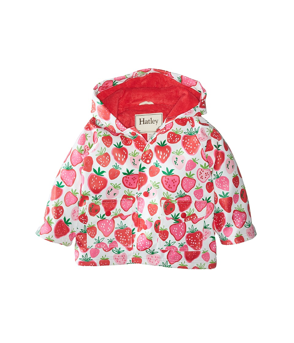 Hatley Kids - Strawberry Sundae Raincoat (Infant) (Pink) Girl's Coat