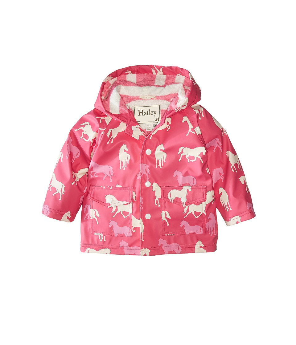 Hatley Kids - Classic Horses Raincoat (Infant) (Pink) Girl's Coat