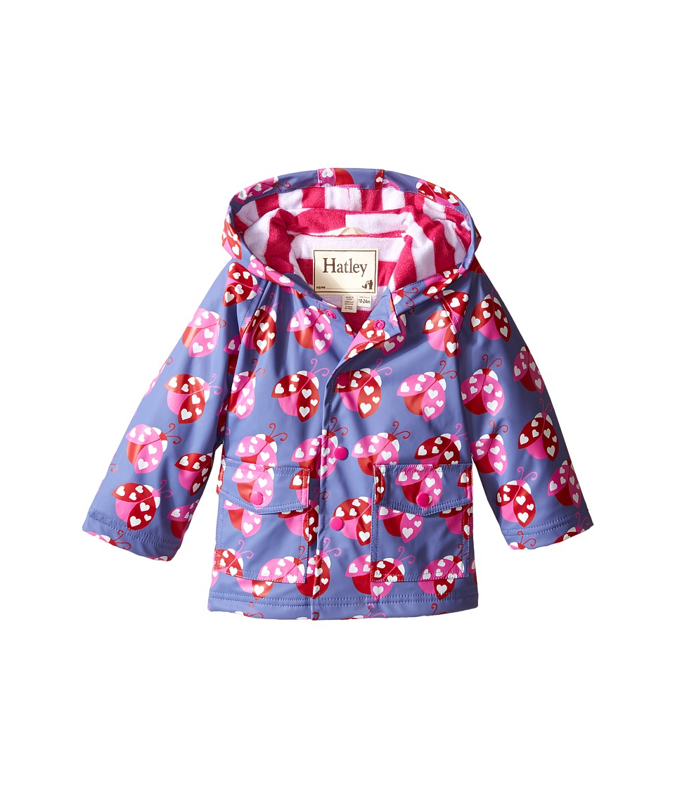 Hatley Kids - Lady Bug Garden Raincoat (Infant) (Blue) Girl's Coat
