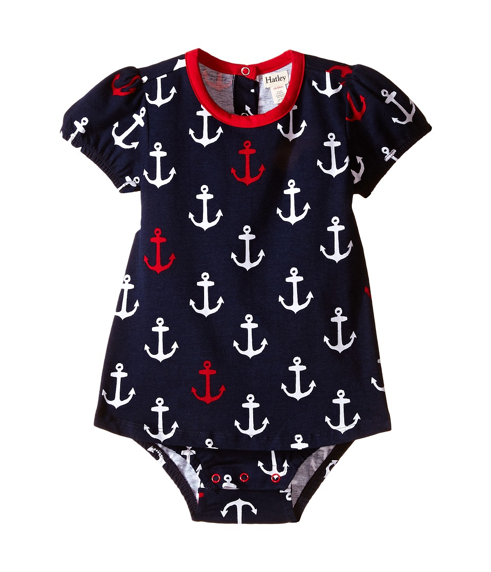 Hatley Kids - Nautical Anchors One-Piece Dress (Infant) (Blue) Girl's Jumpsuit & Rompers One Piece