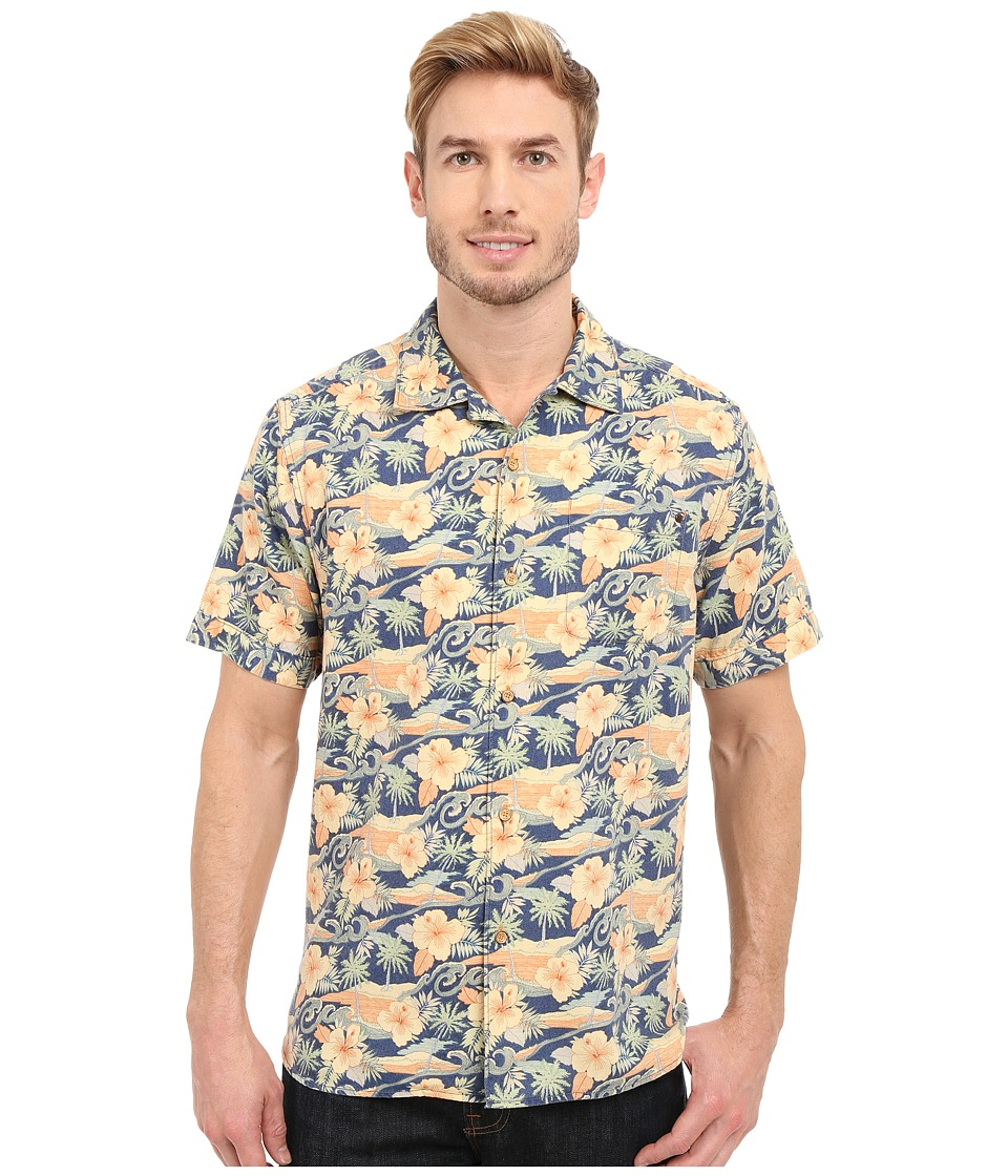 Tommy Bahama - Cassis Print Camp Shirt (Yellow Custard) Men's Clothing