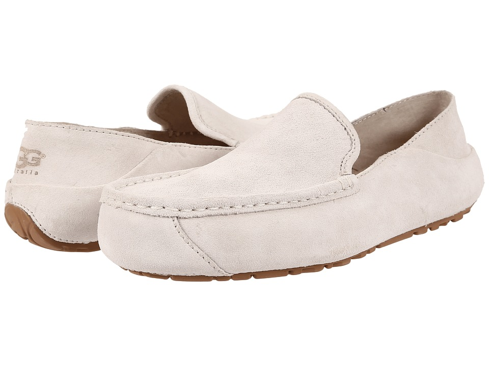 UGG - Hunley (White Wall Suede) Men's Slip on Shoes