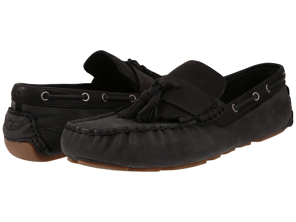 UGG - Stadler (Black Nubuck) Men's Slip on Shoes