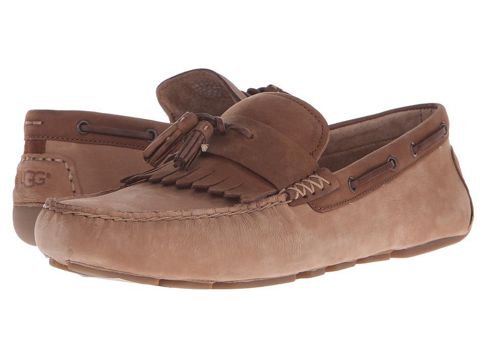 UGG Stadler Chestnut Nubuck Mens Slip on  Shoes