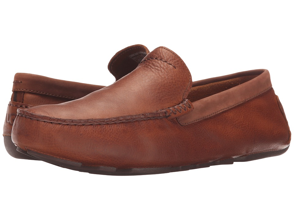 UGG - Henrick (Chestnut Leather) Men's Slip on Shoes