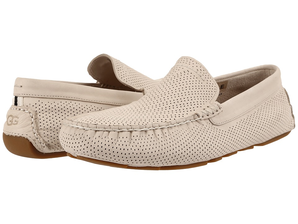 UGG - Henrick Perforated (White Nubuck) Men's Slip on Shoes