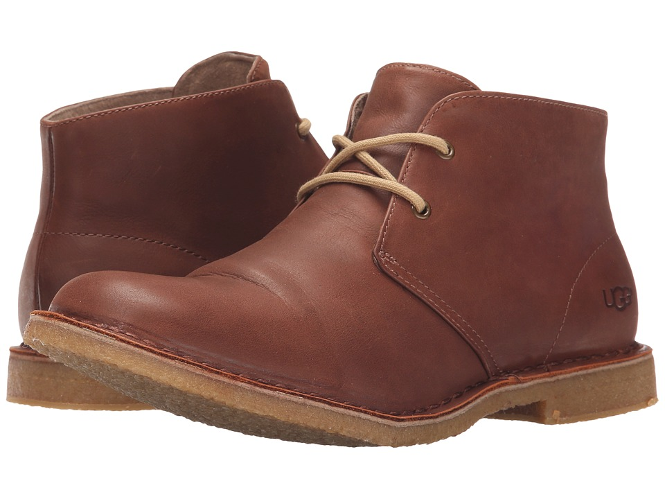UGG - Leighton (British Tan Leather) Men's Dress Lace-up Boots