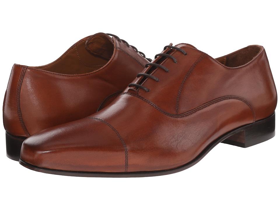 Massimo Matteo - Feather Weight Cap (Cognac) Men's Lace Up Cap Toe Shoes