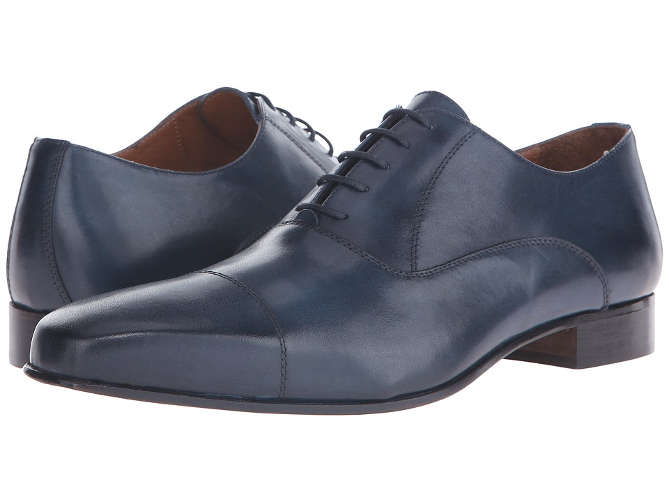 Massimo Matteo - Feather Weight Cap (Navy) Men's Lace Up Cap Toe Shoes