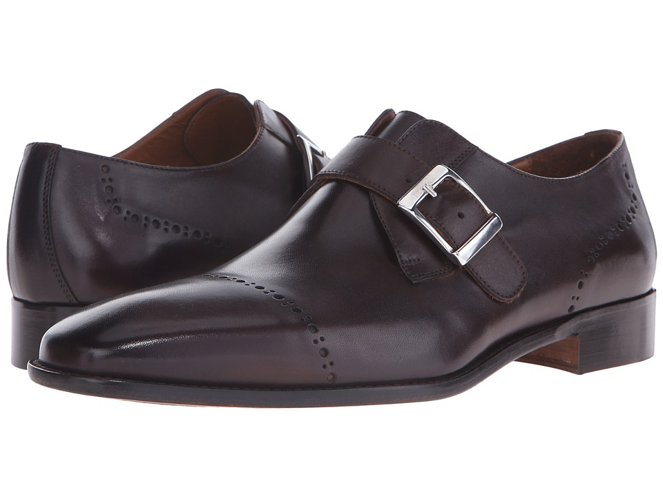 Massimo Matteo - Diamond Perf Monk Strap (T. Moro/Dark Brown) Men's Monkstrap Shoes