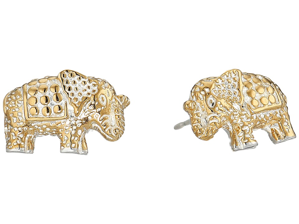 Anna Beck - Elephant Stud Earrings (Sterling Silver 2) Earring