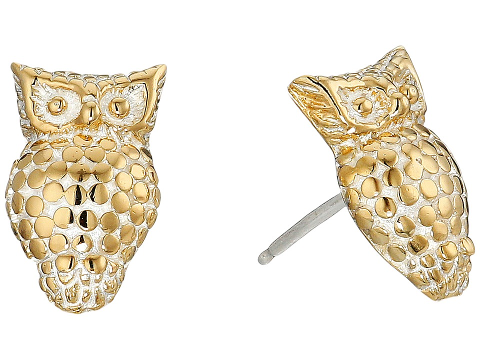 Anna Beck - Owl Stud Earrings (Sterling Silver/18K Gold Vermeil 2) Earring