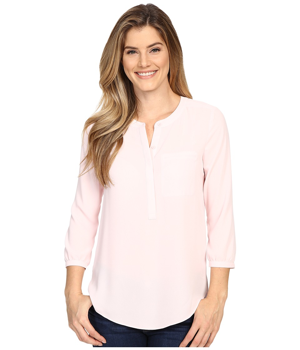 NYDJ - Solid 3/4 Sleeve Pleat Back (Barely Pink) Women's Blouse