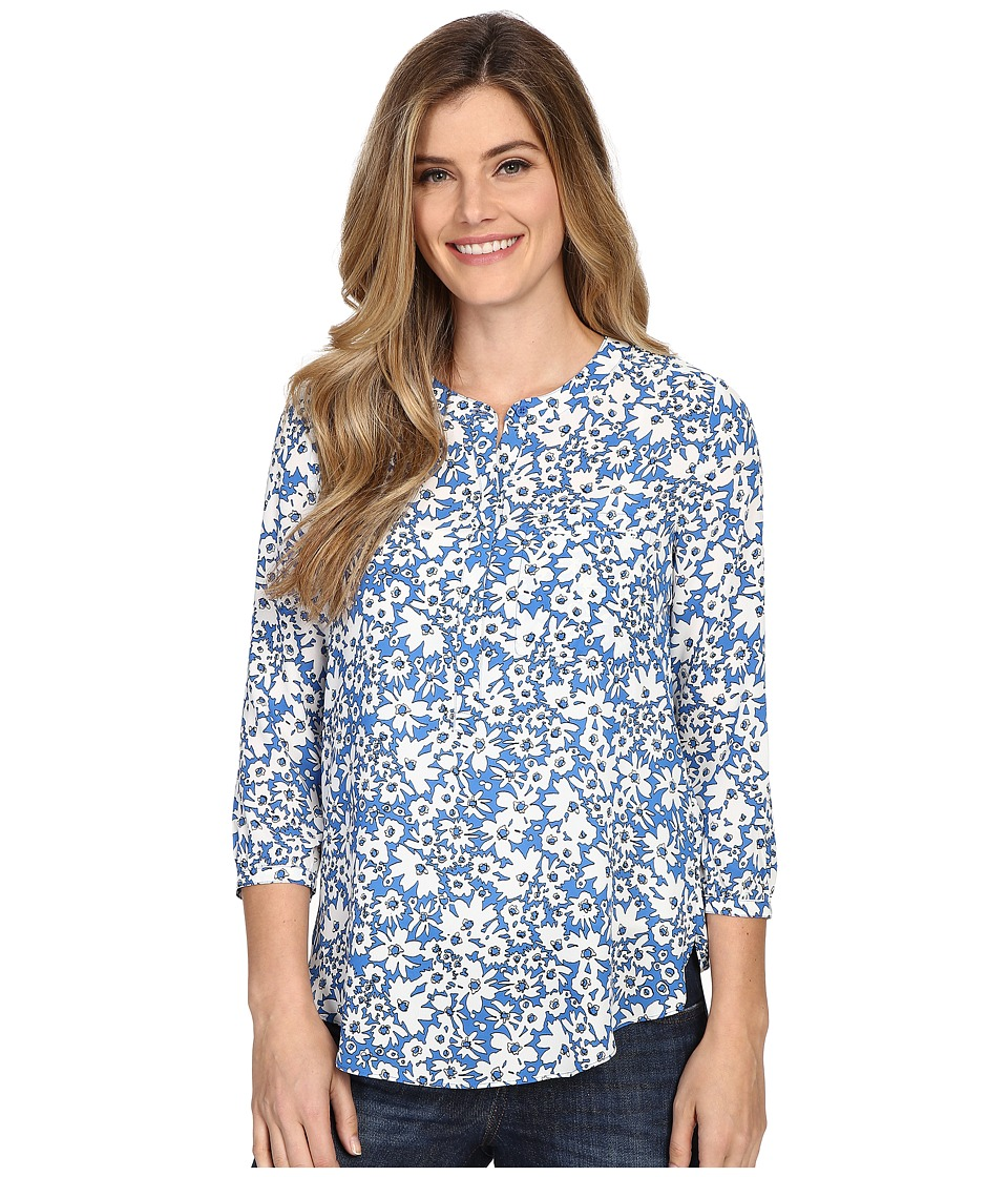 NYDJ - Solid 3/4 Sleeve Pleat Back (Daisy Dream) Women's Blouse