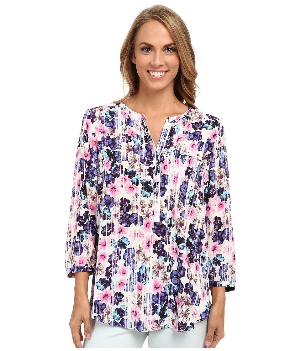 NYDJ - Solid 3/4 Sleeve Pleat Back (Hazy Daisy) Women's Blouse