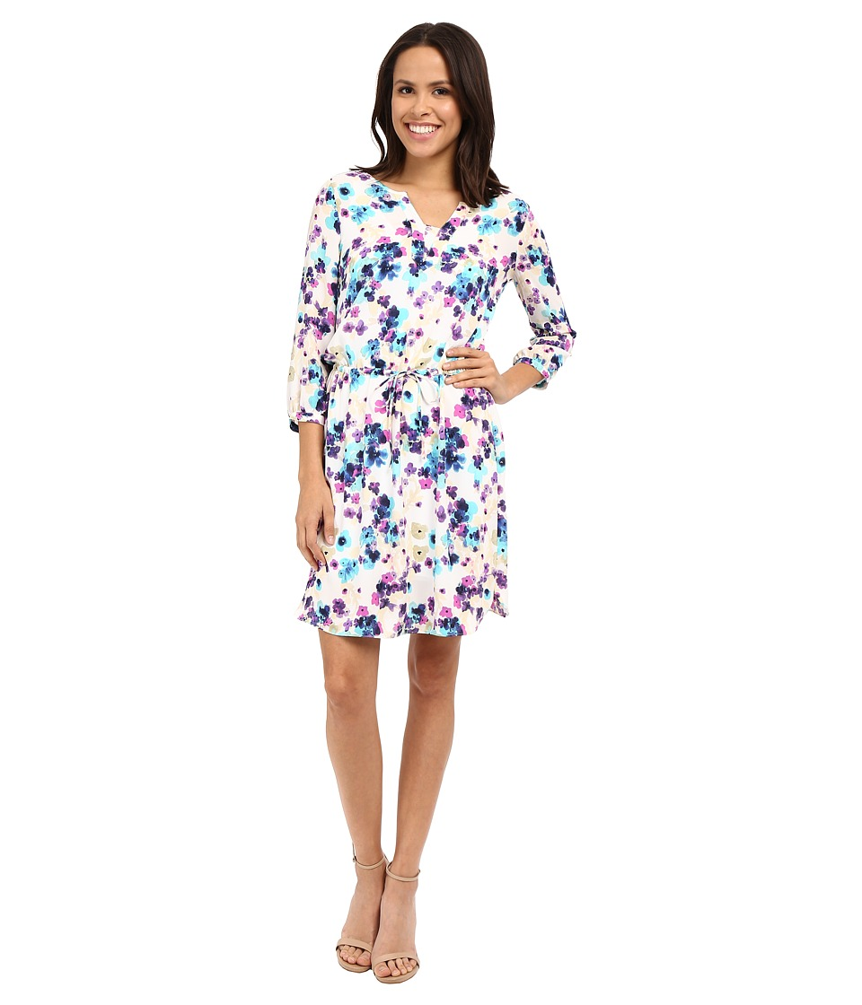 NYDJ - Alexa Pleat Back Dress (Fuji Floral) Women's Dress
