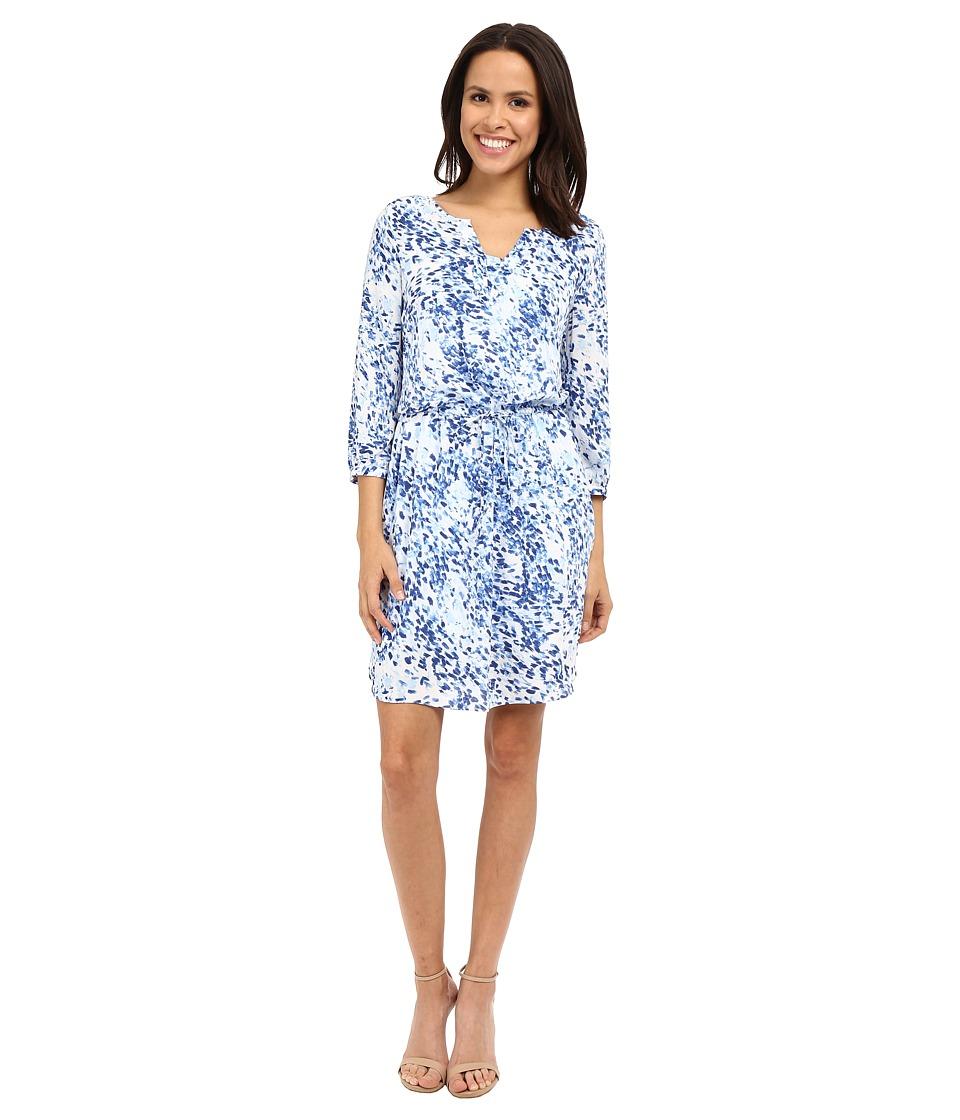 NYDJ - Alexa Pleat Back Dress (Sumi Splash) Women's Dress