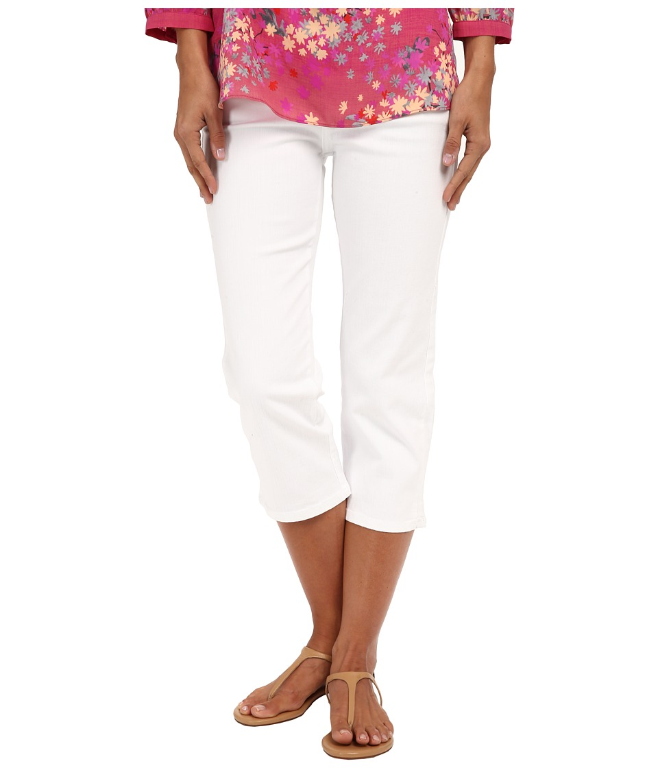 NYDJ - Ariel Crop with Slit (Optic White) Women's Casual Pants