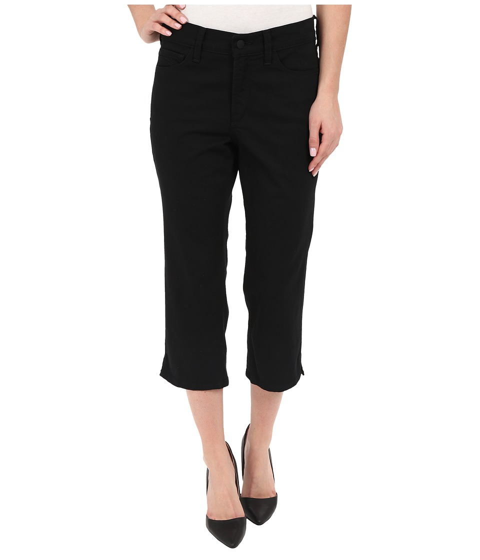 NYDJ - Ariel Crop with Slit (Black) Women's Casual Pants