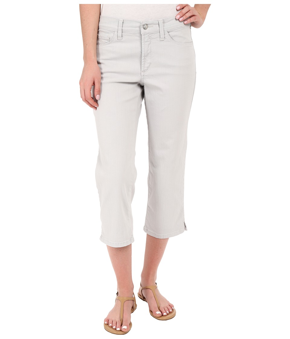 NYDJ - Ariel Crop with Slit (Pearl Grey) Women's Casual Pants