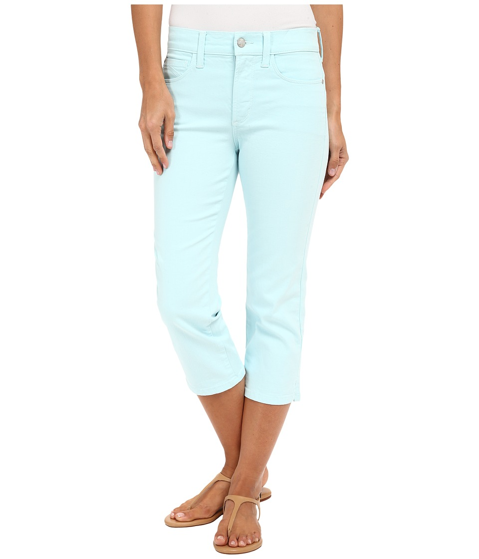 NYDJ - Ariel Crop with Slit (Aqua Glass) Women's Casual Pants