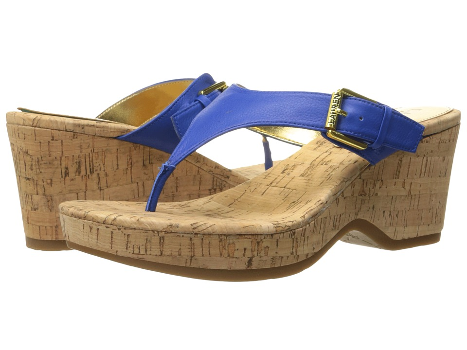 LAUREN Ralph Lauren Oralee (Summer Blue Tumbled Burn Nappa) Women