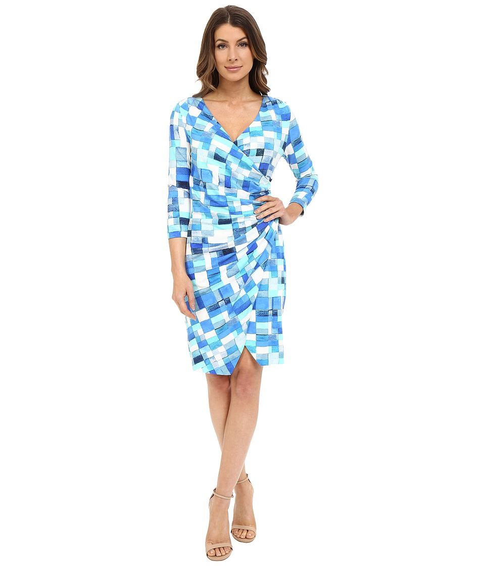 NYDJ - Casey Printed Rayon Dress (Bridge Over Water) Women's Dress