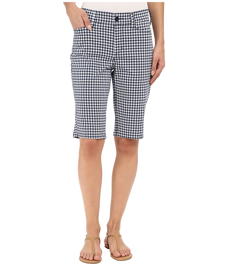 NYDJ - Christy Shorts (Navy Gingham) Women's Shorts