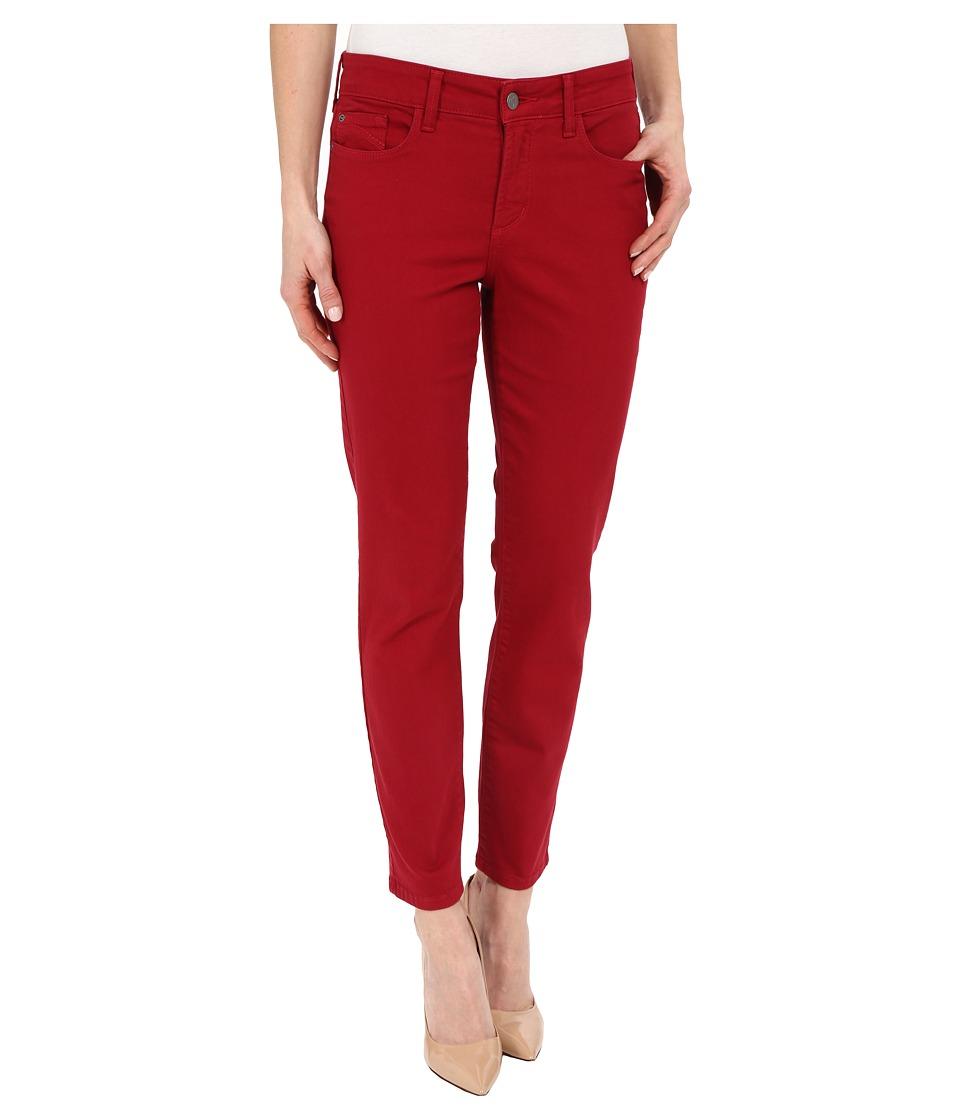 NYDJ - Clarissa Skinny Ankle Fine Line Twill (Radiant Ruby) Women's Jeans