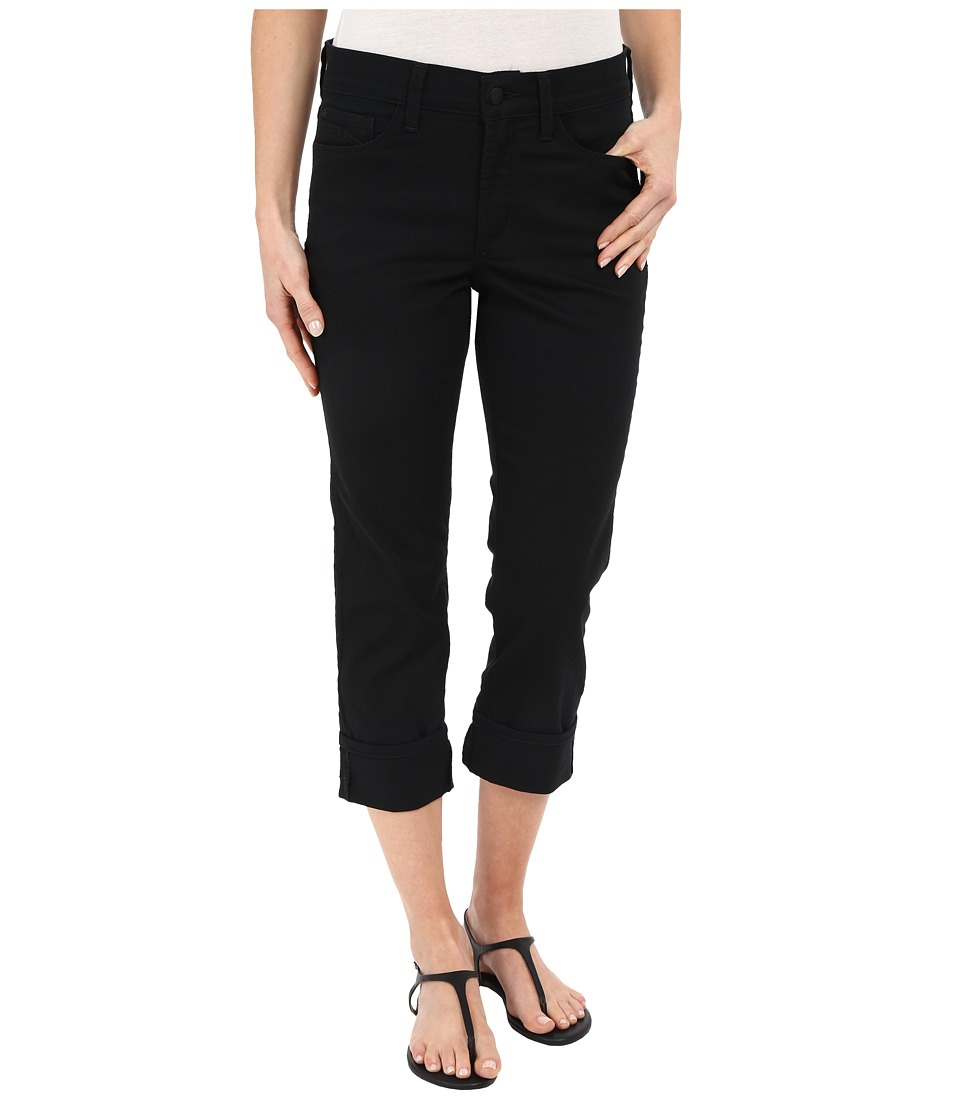 NYDJ - Dayla Wide Cuffed Capri (Black) Women's Jeans