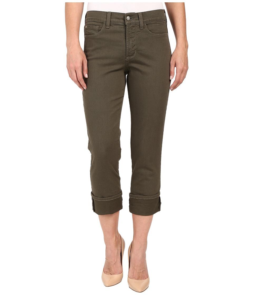 NYDJ - Dayla Wide Cuffed Capri (Fatigue) Women's Jeans