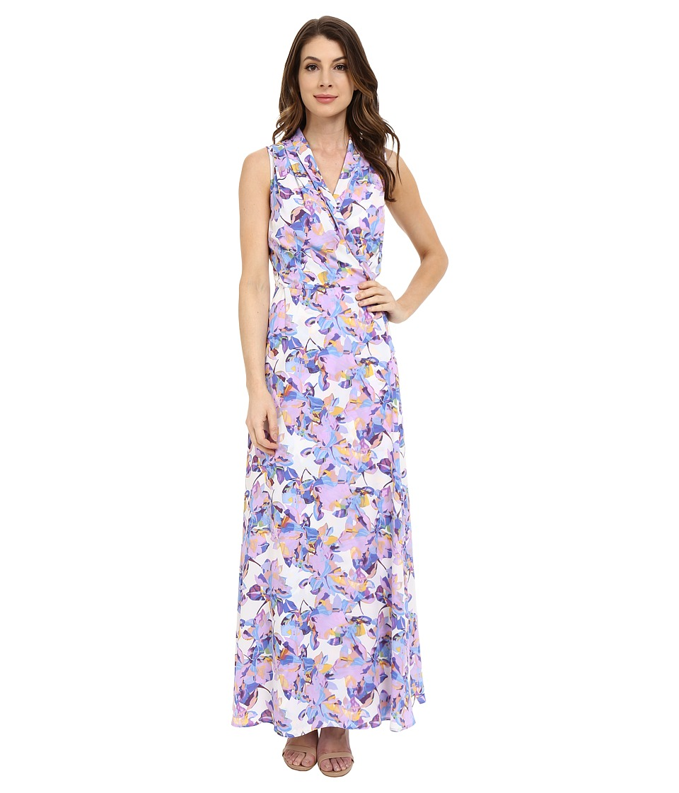 NYDJ - Double GGT Maxi Wrap Dress (Butterfly Orchid) Women's Dress