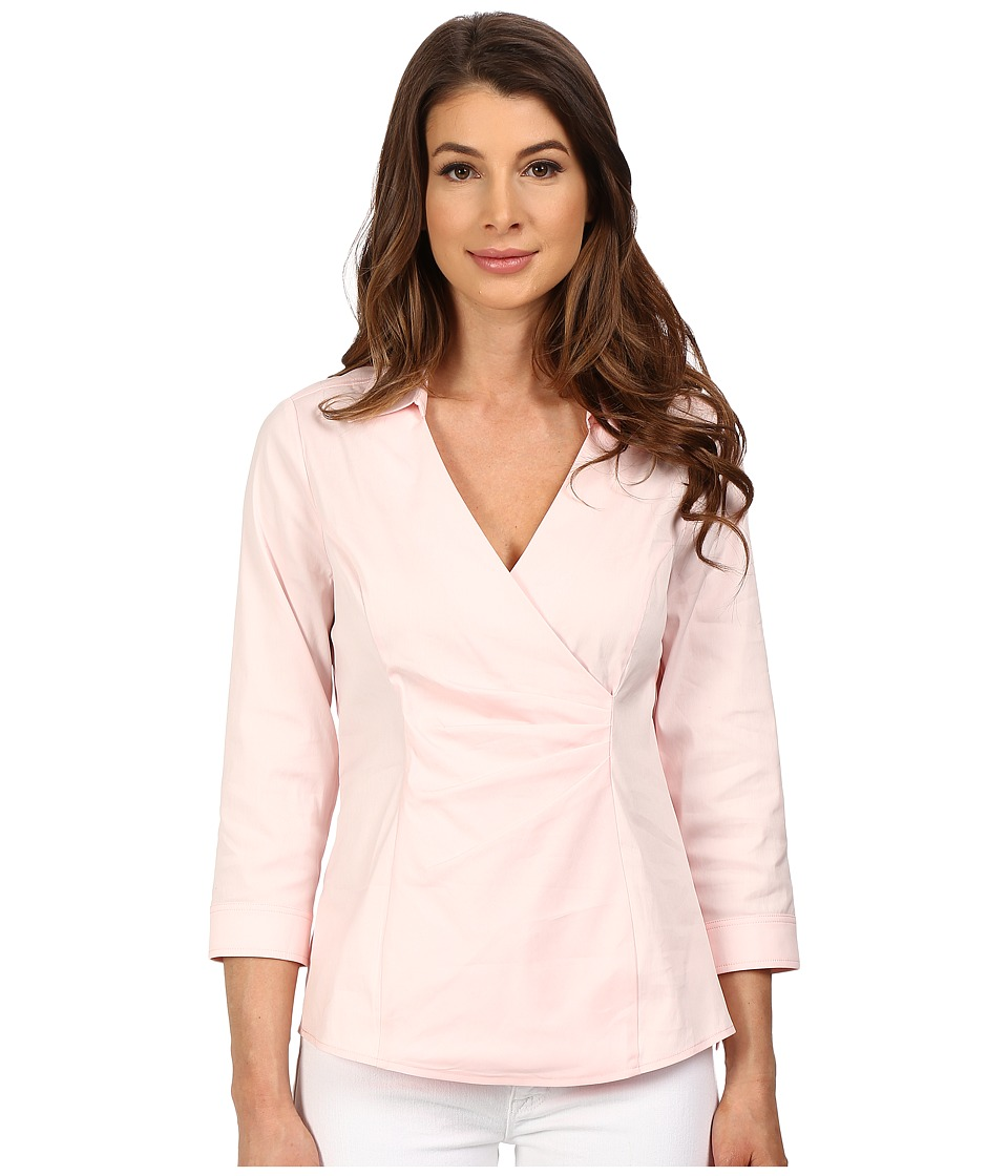 NYDJ - Fit Solution Woven Top (Barely Pink) Women's Blouse