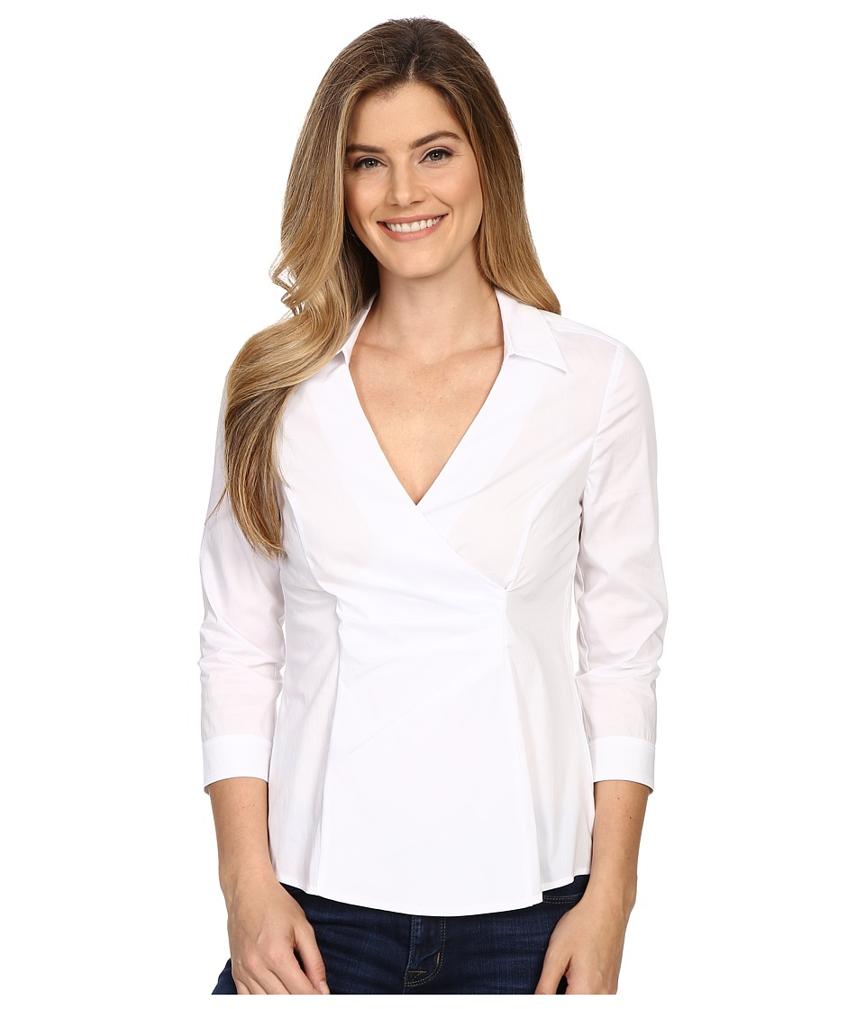NYDJ - Fit Solution Woven Top (Optic White) Women's Blouse
