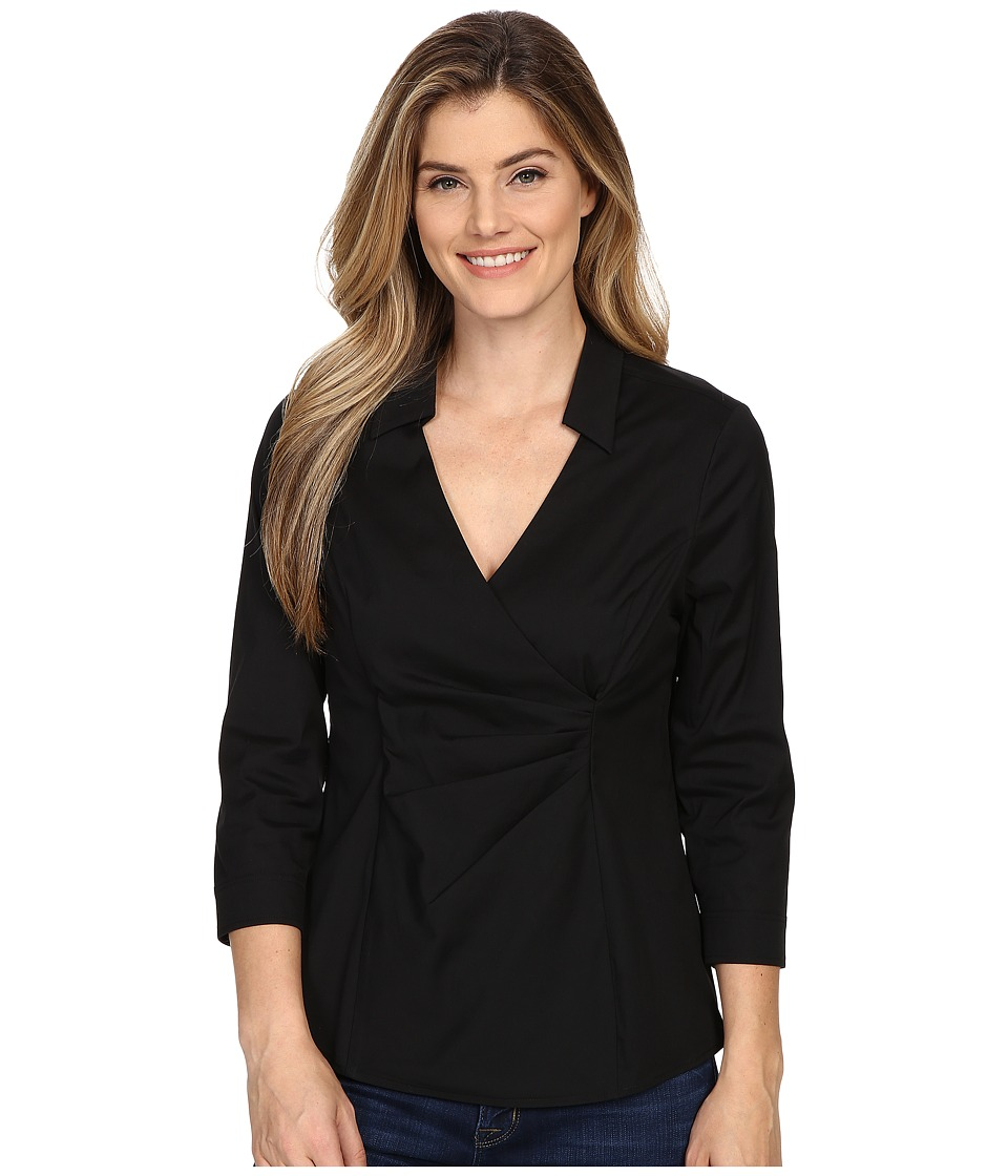 NYDJ - Fit Solution Woven Top (Black) Women's Blouse