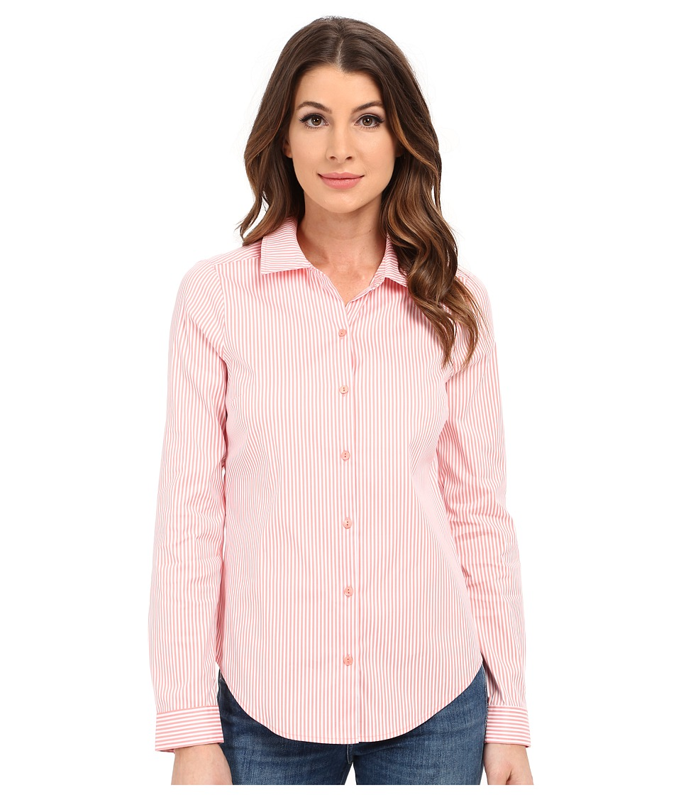NYDJ - Fit Solution Woven Top (Guava Stripe) Women's Clothing