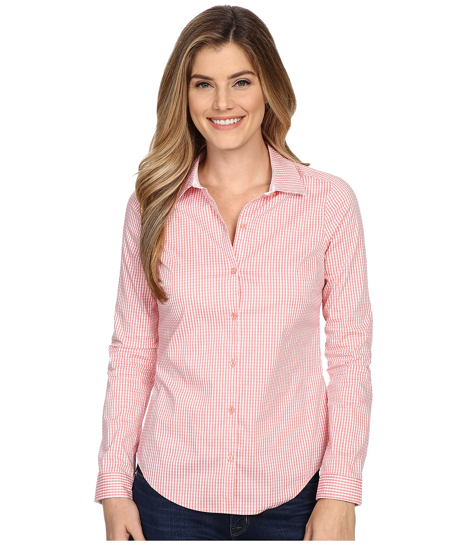 NYDJ - Fit Solution Woven Top (Guava Gingham) Women's Clothing