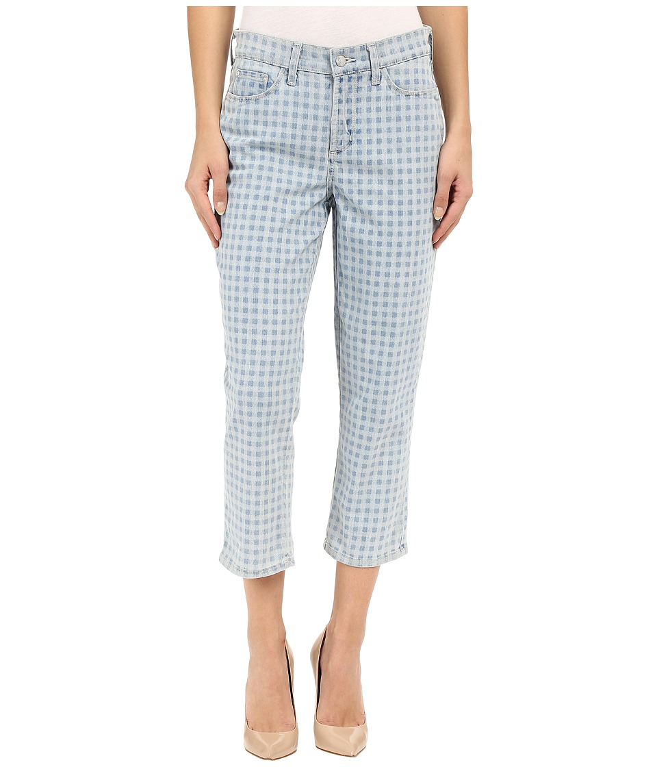 NYDJ Karen Capris in Gingham Denim Print (Gingham Denim Print) Women