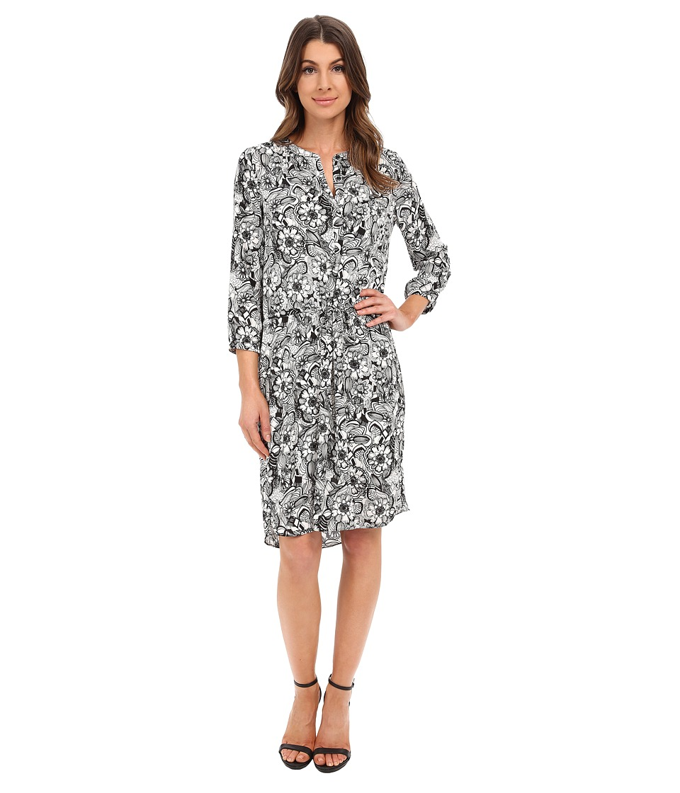 NYDJ - Lauren PLeat Back Dress (Fleetwood Floral) Women's Dress