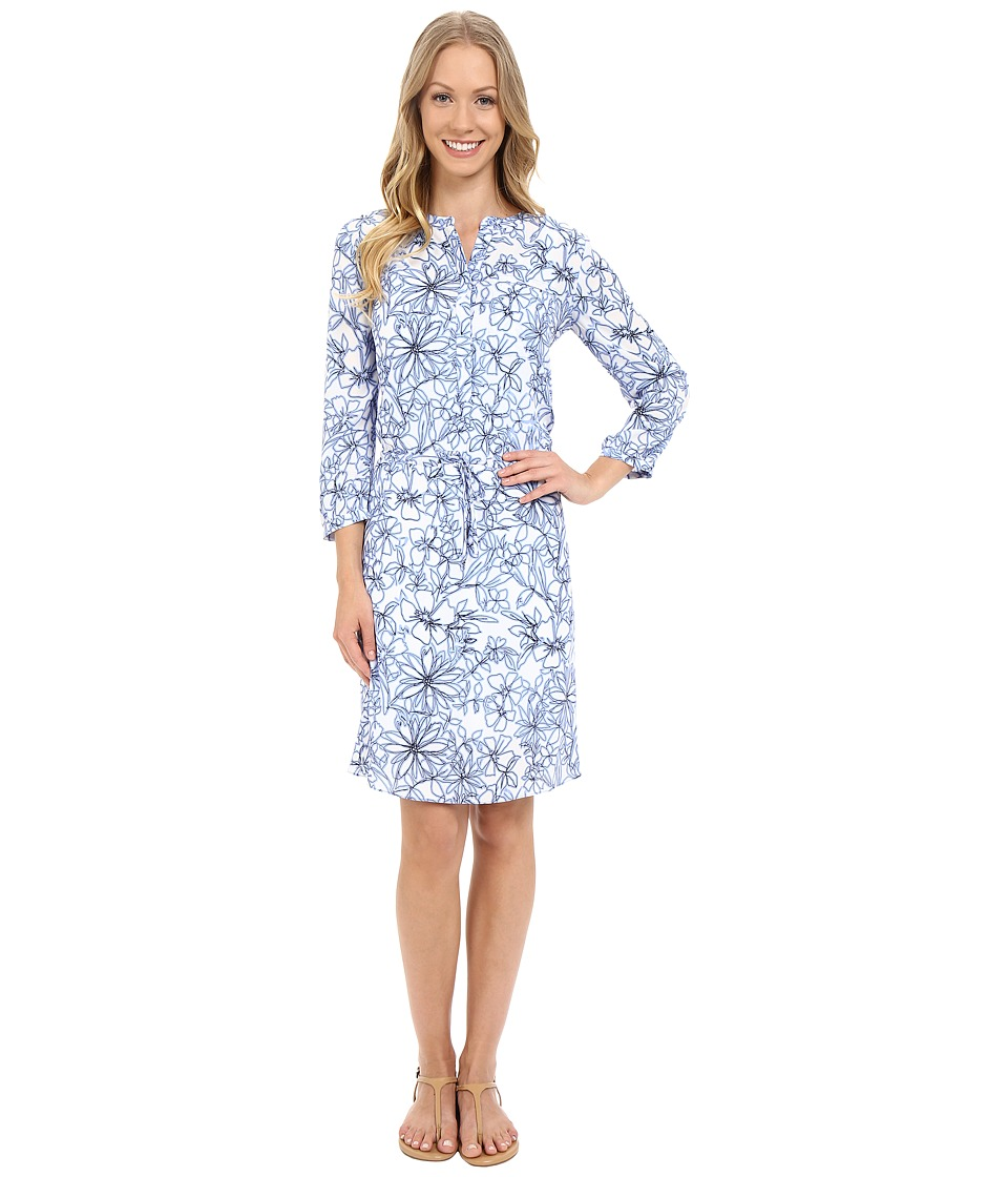 NYDJ - Lauren PLeat Back Dress (Fanciful Floral Sketch) Women's Dress