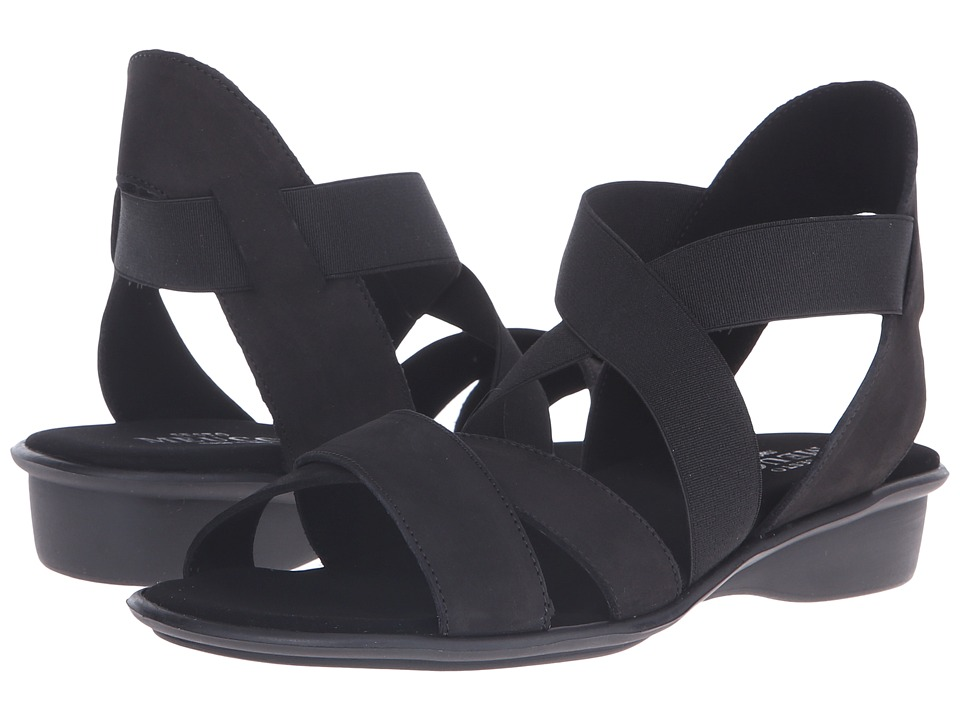 Sesto Meucci - Ellis (Black Nabuk) Women's Sandals
