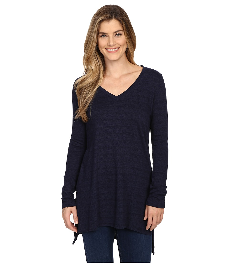NYDJ - Long Easy Jersey Tunic (Indigo) Women's Long Sleeve Pullover